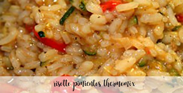 Peppers risotto with Thermomix