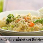 Vegetable risotto with Thermomix