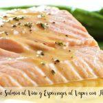Salmon with Wine and Steamed Asparagus Recipe with Thermomix