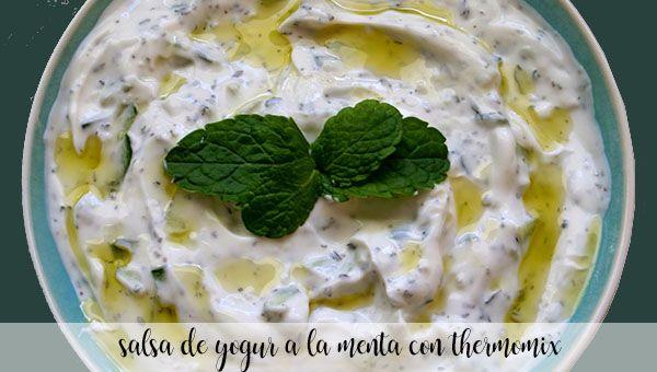 Mint yogurt sauce with thermomix