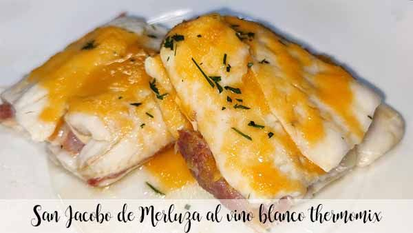 San Jacobo de Hake in white wine with thermomix
