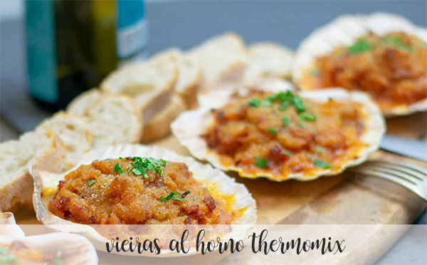 Baked scallops with thermomix