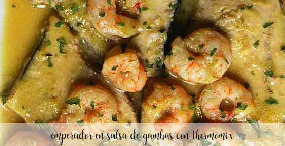 Emperor in shrimp sauce with Thermomix